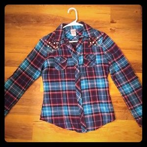 Plaid flannel button down shirt from Buckle